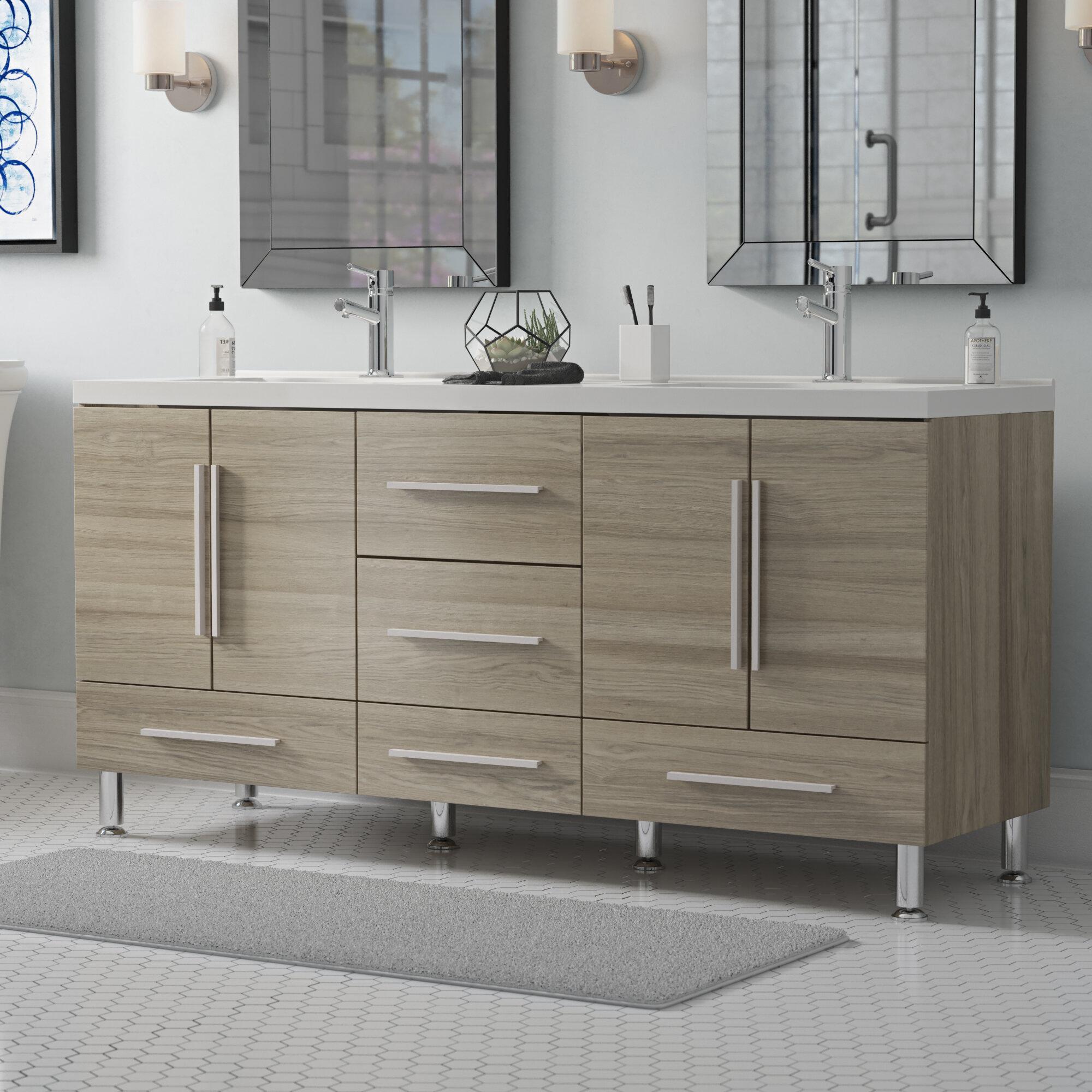 . Waldwick 67  Double Modern Bathroom Vanity Set