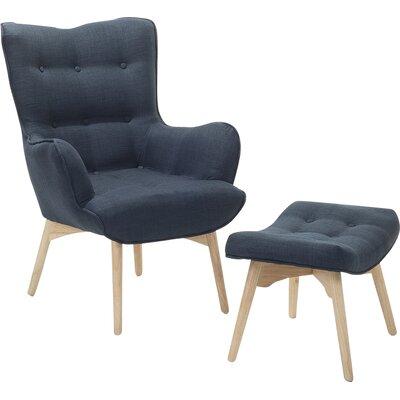 Ledo Armchair and Ottoman Corrigan Studio Upholstery: Dark Blue