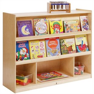 Double Sided 5 Compartment Bookshelf