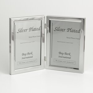silver plated double picture frame - Double 5x7 Frame
