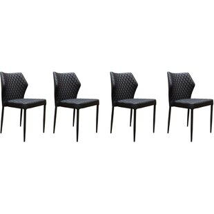 Katya Diamond Tufted Upholstered Dining Chair (Set of 4)