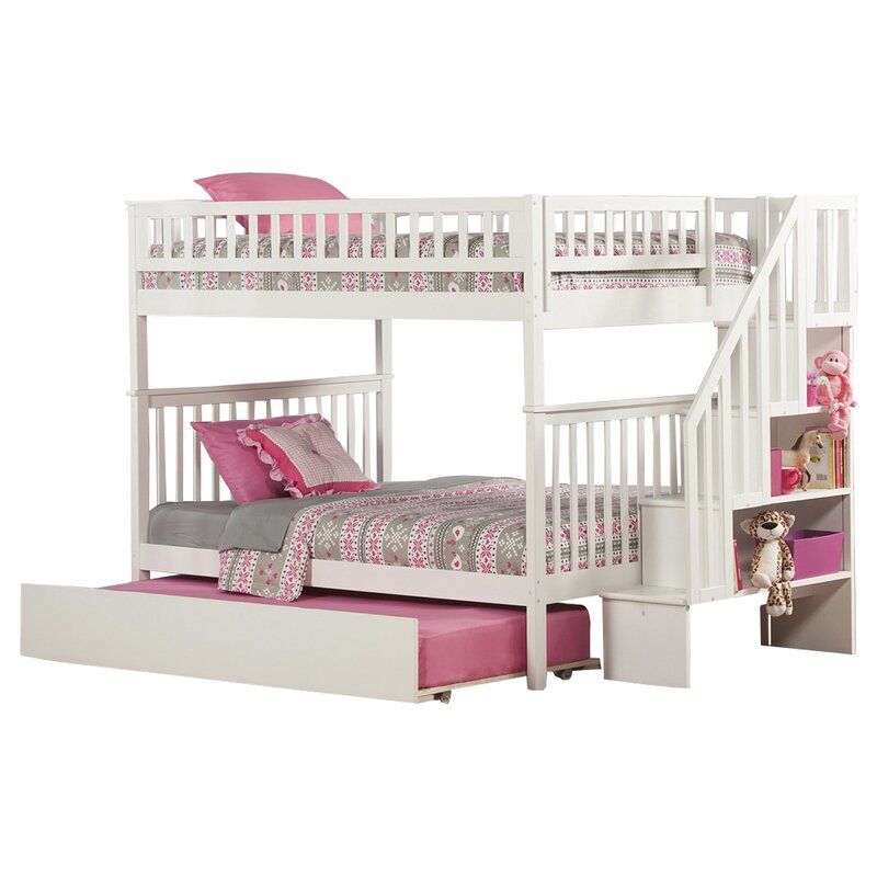 5379dff195f Viv + Rae Shyann Full over Full Bunk Bed with Trundle   Reviews ...