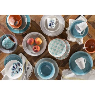Current 16 Piece Dinnerware Set Service for 4  sc 1 st  Wayfair & Aqua Dinnerware Set | Wayfair