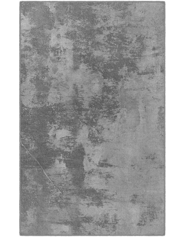 Williston Forge Bodie Abstract Gray Area Rug, Size: Rectangle 76 x 10