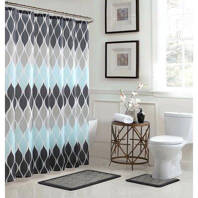 Bath Fusion Clarisse 3 Piece Shower Curtain Set