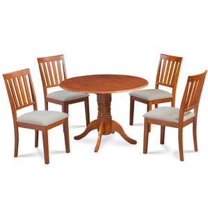 Chesterton Transitional 5 Piece Dining Set by Alcott Hill