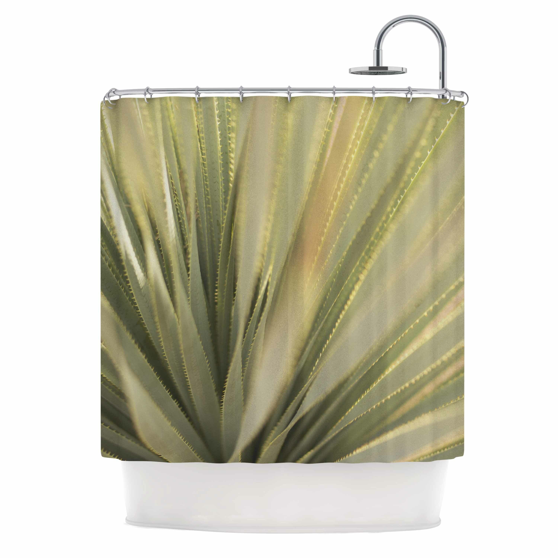 East Urban Home Cactus Shower Curtain