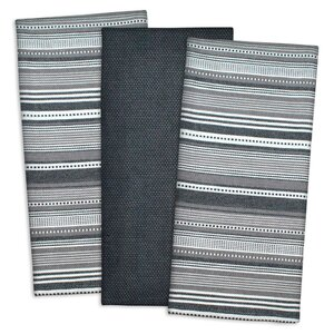 3 Piece Urban Stripe Cotton Dishtowel Set
