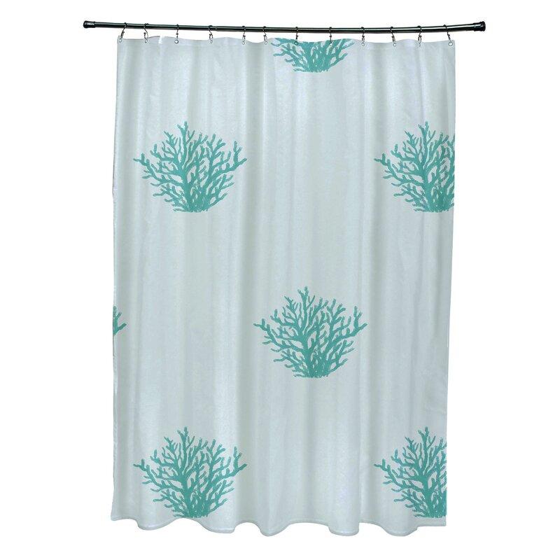 E By Design Coastal Calm Shower Curtain Wayfair