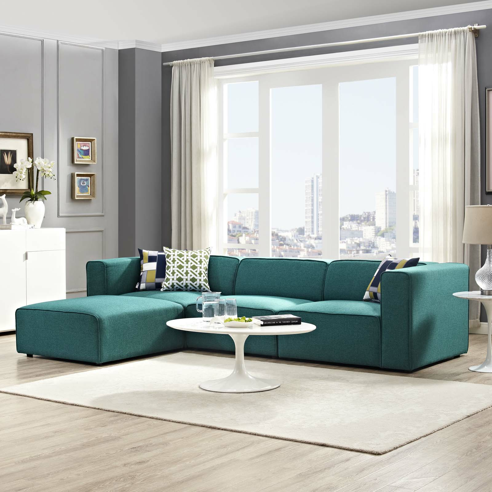 modern amp contemporary living room furniture allmodern 78655
