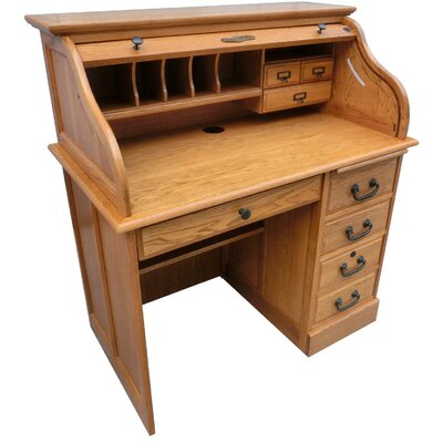 Soleil Oak Roll Top Desk Wayfair