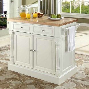 Coan Kitchen Island With Butcher Block Top