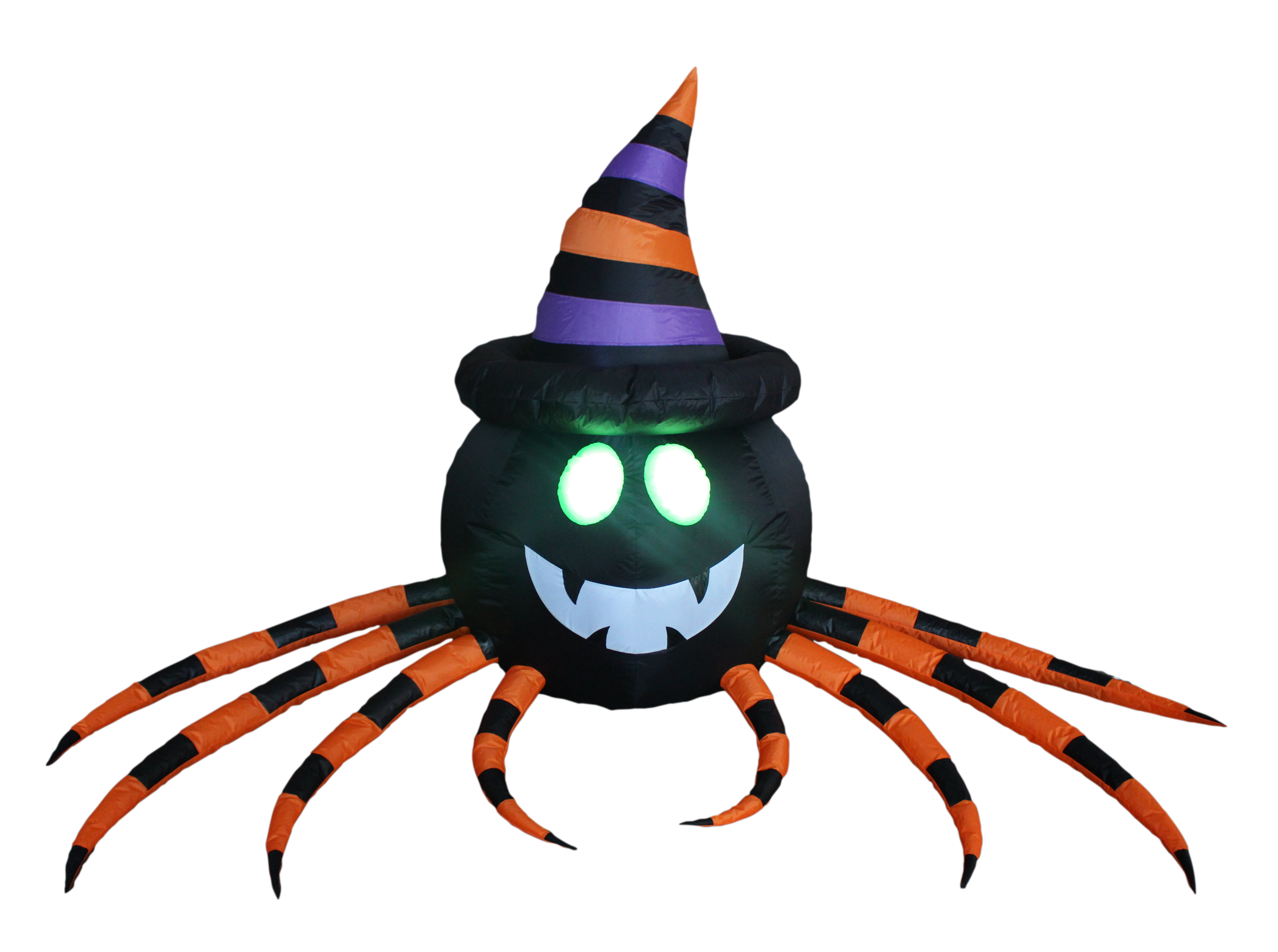 The Holiday Aisle Inflatable Spider With Hat Reviews Wayfair