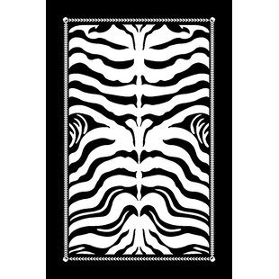 Leal 3D Black/White Area Rug By World Menagerie