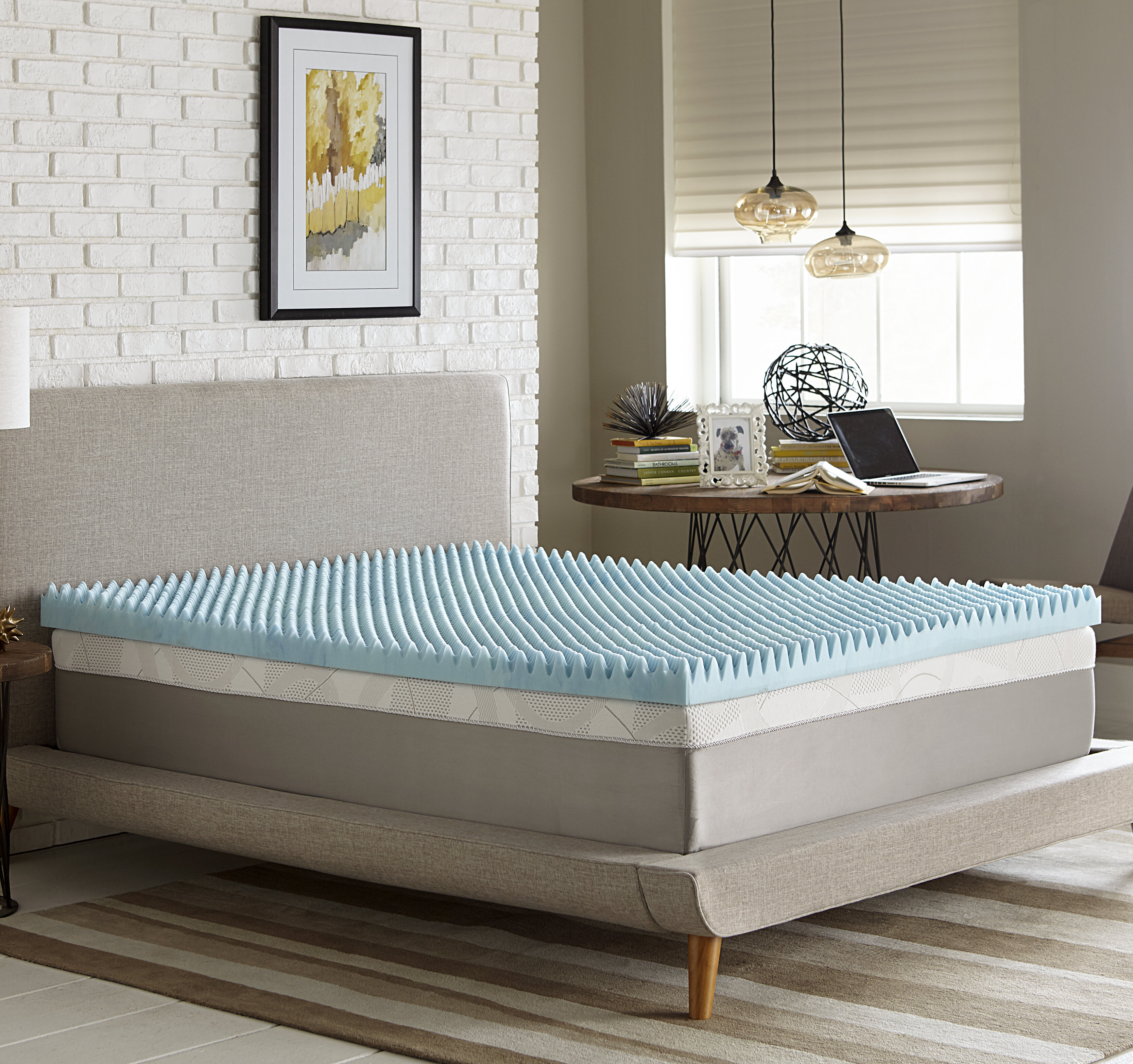today foam highloft inch solutions shipping topper memory overstock slumber mattress supreme free bedding product bath