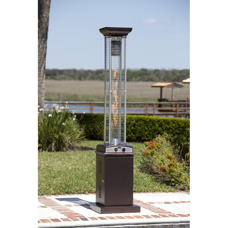 Beau Hammered Square Flame 46,000 BTU Propane Patio Heater