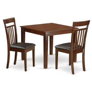 Cobleskill Faux Leather 3 Piece Dining Set