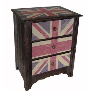 Union Jack 3 Drawer Cabinet