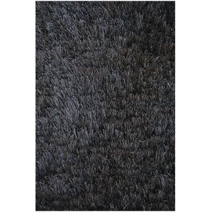 Crystal Solid Black Area Rug