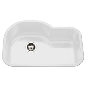 White Undermount Kitchen Sinks white porcelain kitchen sink   wayfair