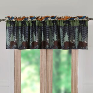 Moose Lodge Valances Kitchen Curtains