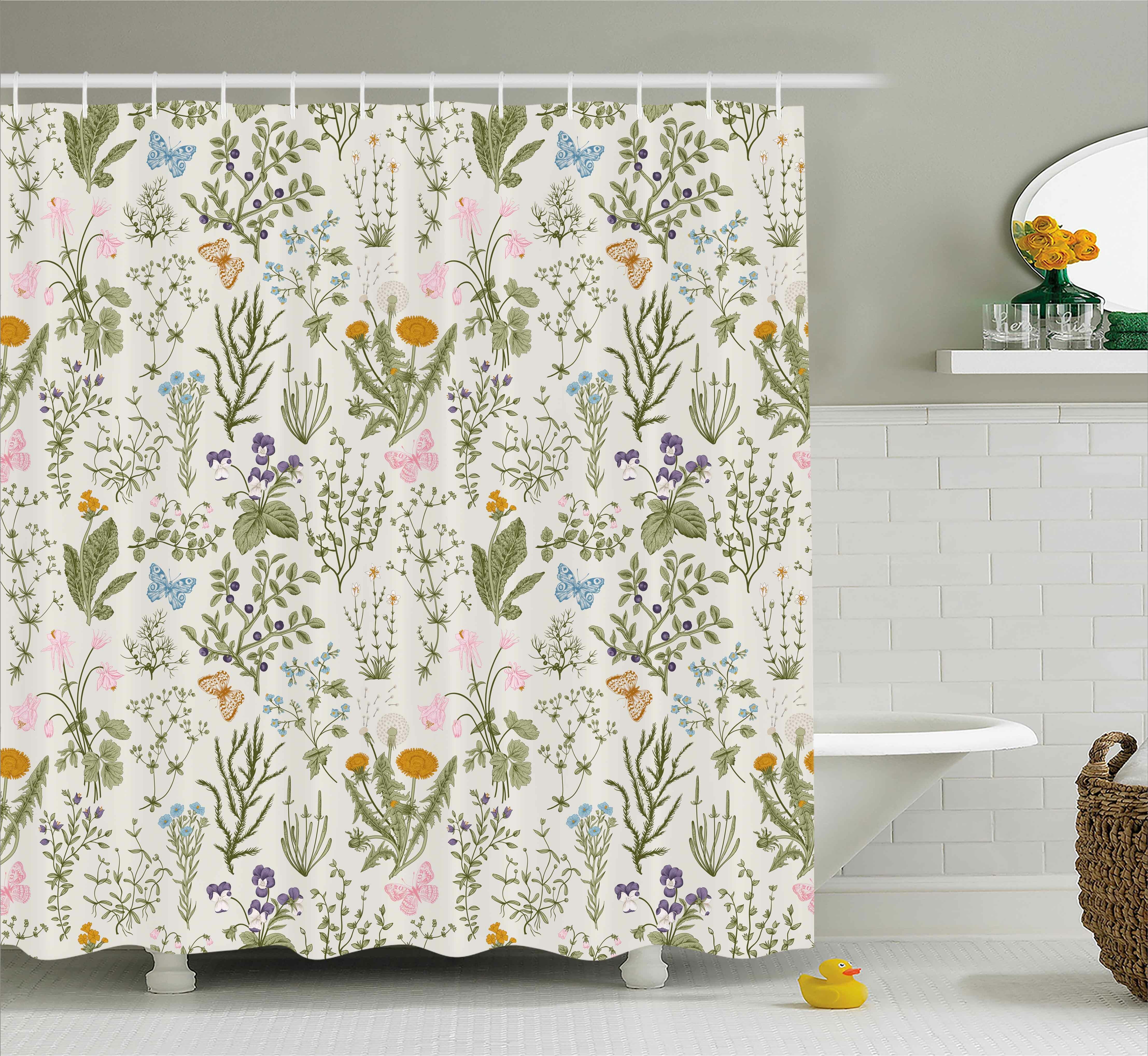 August Grove Menthe Herbs Flowers Shower Curtain & Reviews   Wayfair