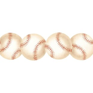 Baseball 15 X 3 Abstract Border Wallpaper