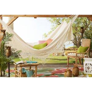 brazilian two person deluxe cotton tree hammock