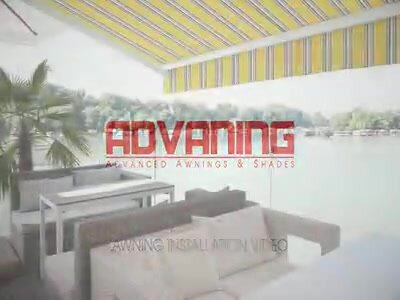 S Slim Series 10 Ft. W X 8 Ft. D Retractable Patio Awning