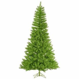 10 Lime Green Tinsel Christmas Tree