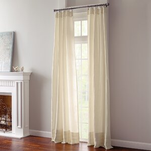 Waterfall Solid Pinch Pleat Single Curtain Panel