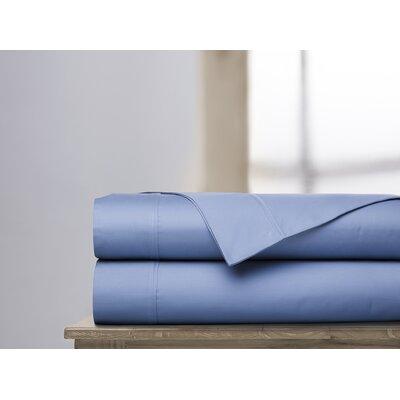 600 Thread Count 100% Cotton Sheet Set Ardor Home Color: Coastal Blue, Size: Queen