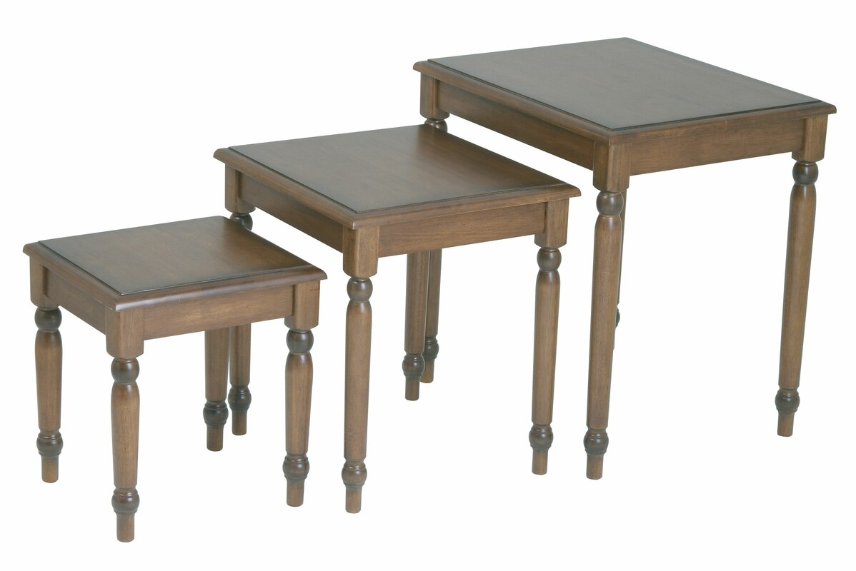 Good Jeannette 3 Piece Nesting Table Set