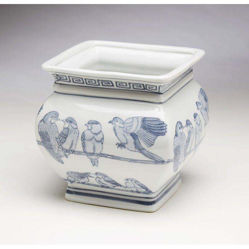 Bloomsbury Market Padang Birds on a Wire Ceramic Pot Planter