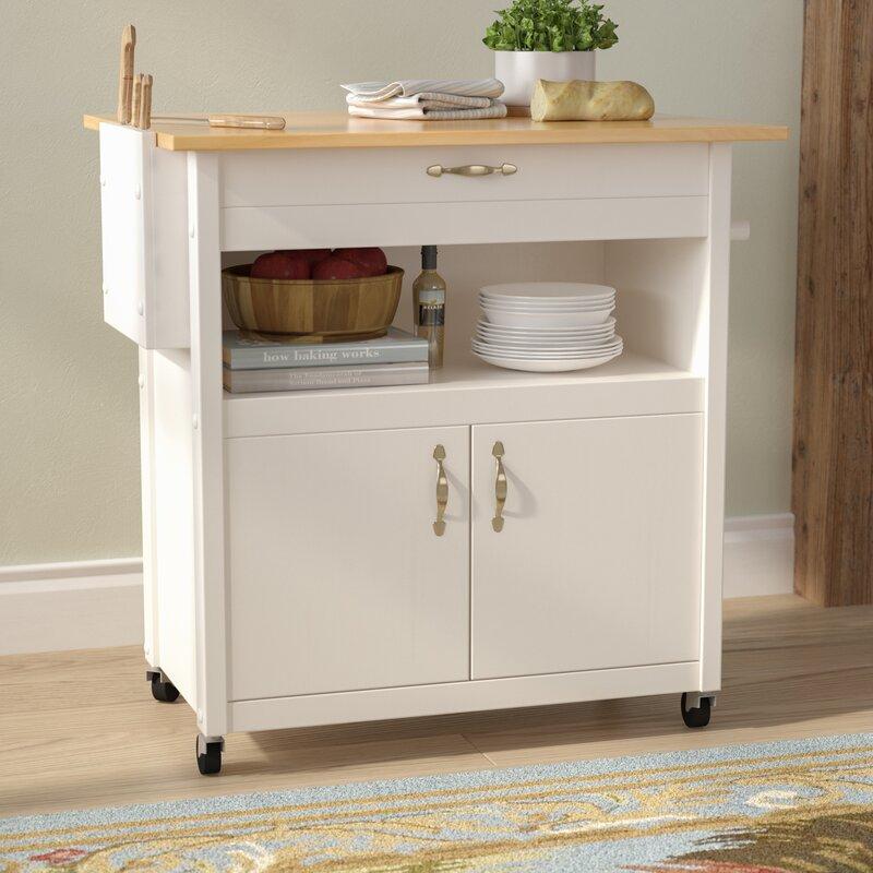 Allie Kitchen Cart With Wood