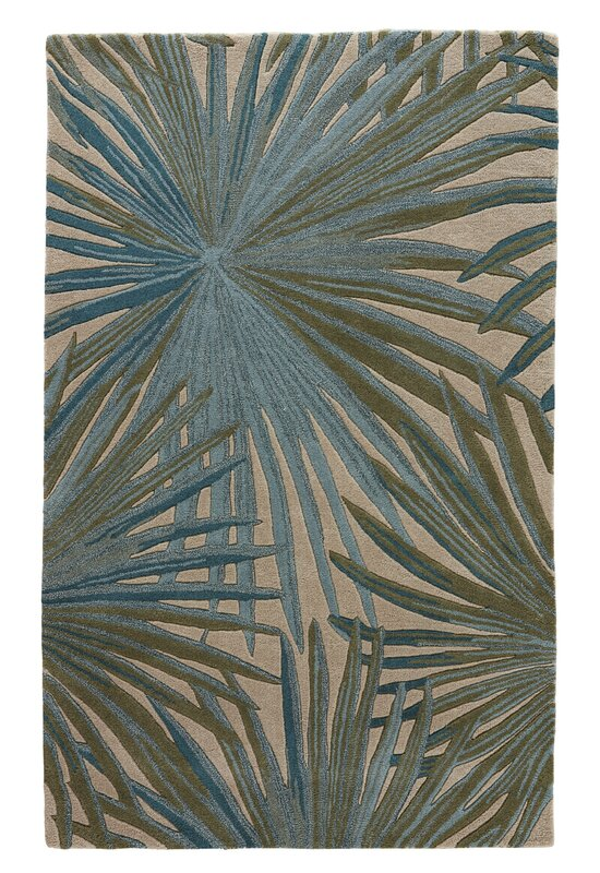 Arsos Hand Tufted Blue Green Area Rug