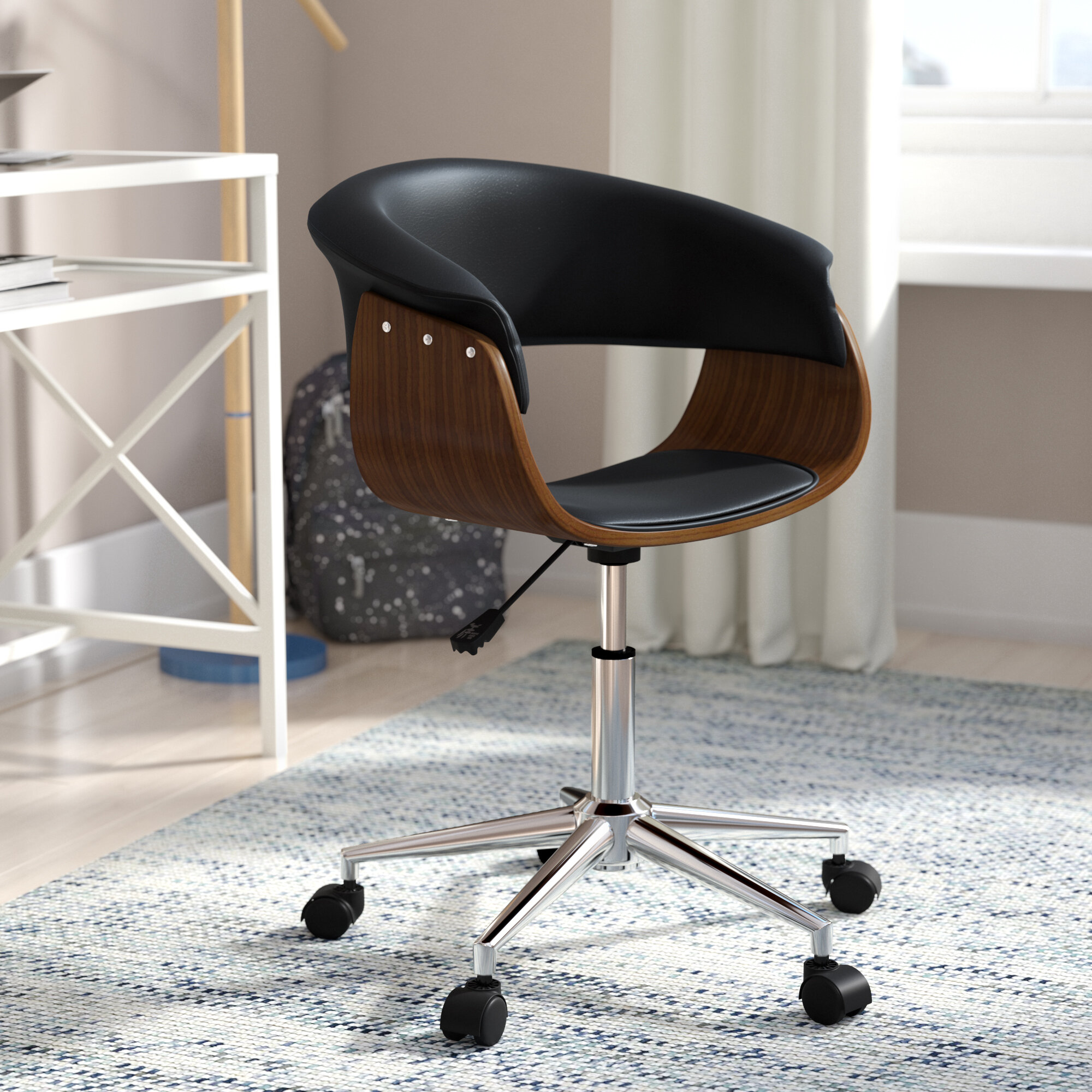 chair foster contemporary thumbnail desk in brown