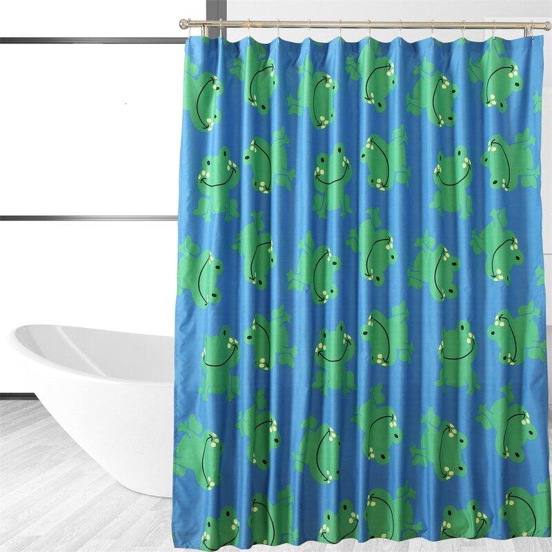 Affluence Home Fashions Froggy Friends Single Shower Curtain
