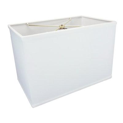 Brayden Studio 16 Linen Rectangular Lamp Shade Color: White