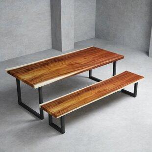 Eatonton 2 Piece Solid Wood Dining Set