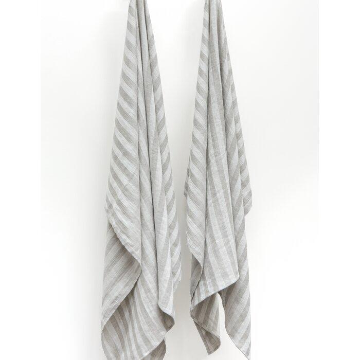 Laurel Foundry Modern Farmhouse Adel 2 Piece Linen Bath Towel Set