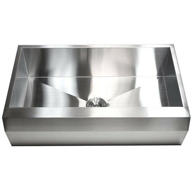 ariel 36   x 22   stainless steel 16 gauge single bowl farmhouse kitchen sink emodern decor ariel 36   x 22   stainless steel 16 gauge single bowl      rh   wayfair com