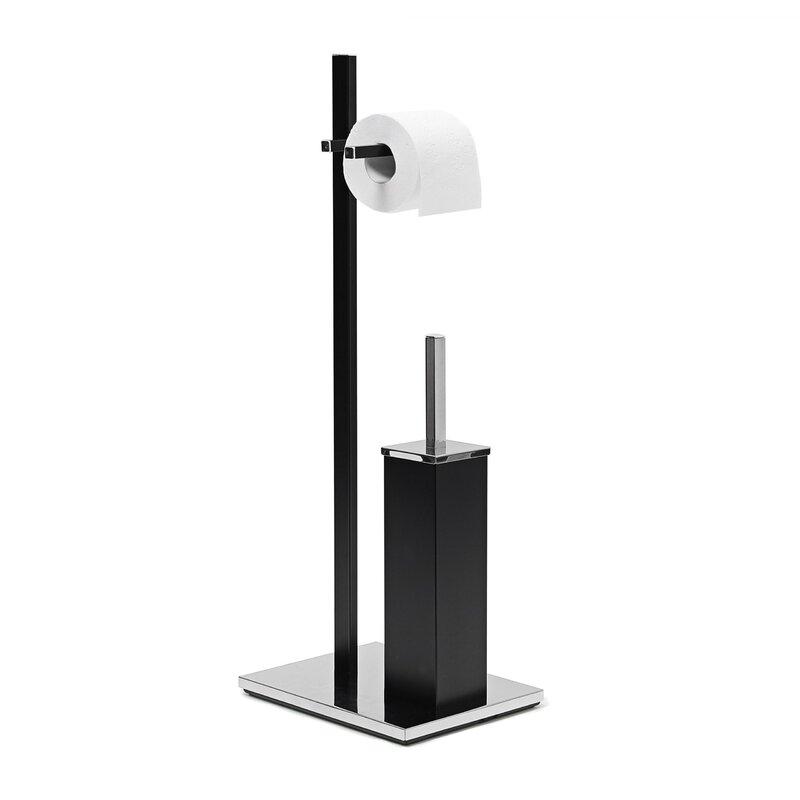dcb9d1b17033 Relaxdays Butler Freestanding Toilet Roll and Brush Holder & Reviews |  Wayfair.co.uk