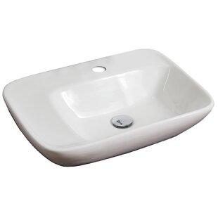 Rectangle Vessel Bathroom Sink