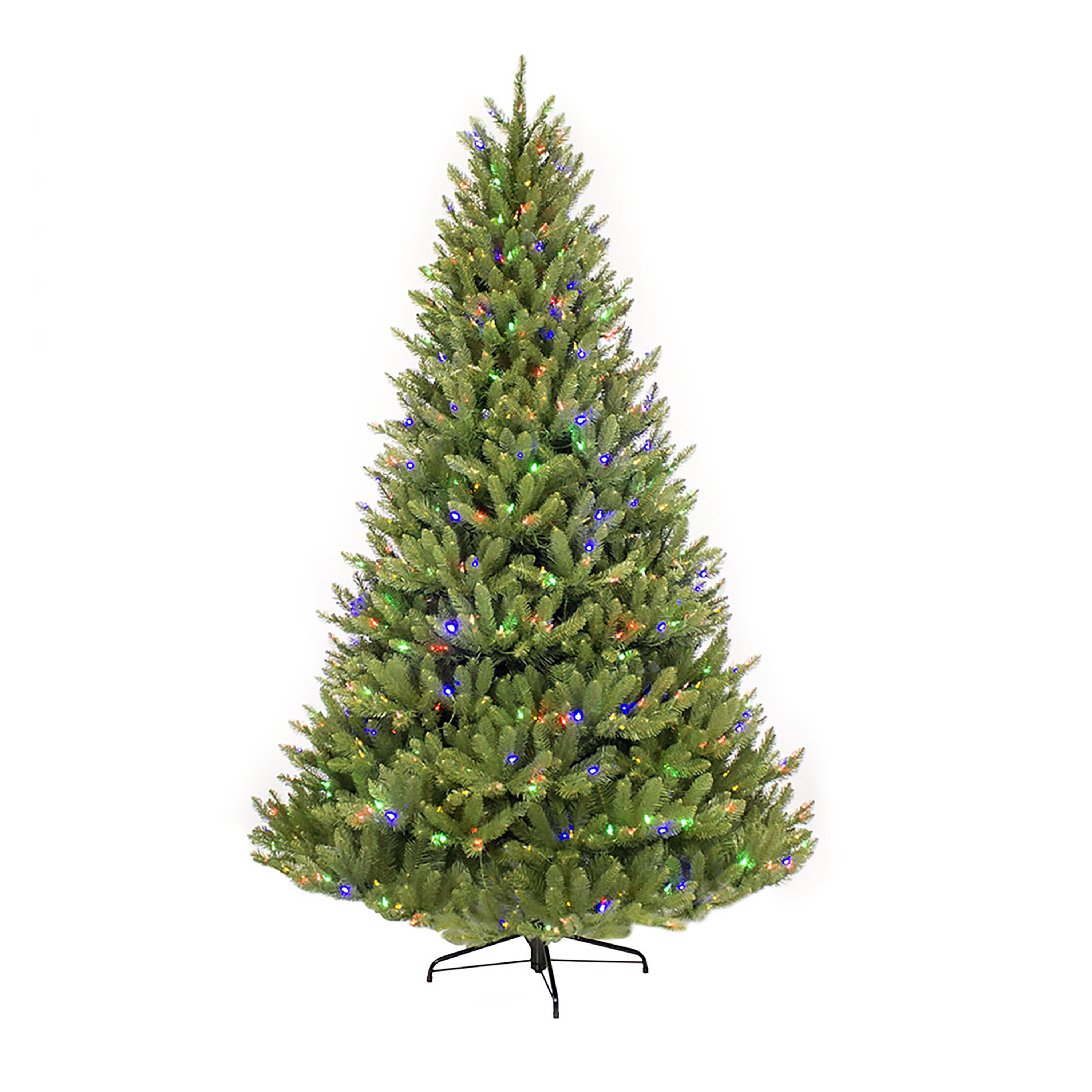 Fraser Fir Christmas Trees.Pre Lit Fraser 90 Green Fir Tree Artificial Christmas Tree With 750 Multi Colored Lights With Stand