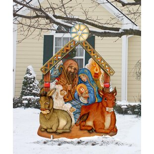 Nativity Lawn Art