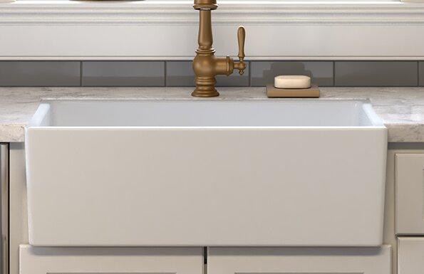 Ronbow Canvas 30 L X 18 W Farmhouse Kitchen Sink Wayfair