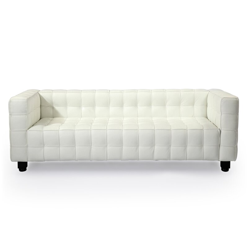 Chesterfield sofa modern  Kardiel Kubus Mid Century Modern Leather Chesterfield Sofa ...