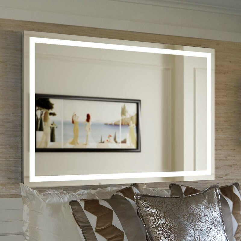 lighted wall mirror. aluminum frame electric wall mirror lighted r
