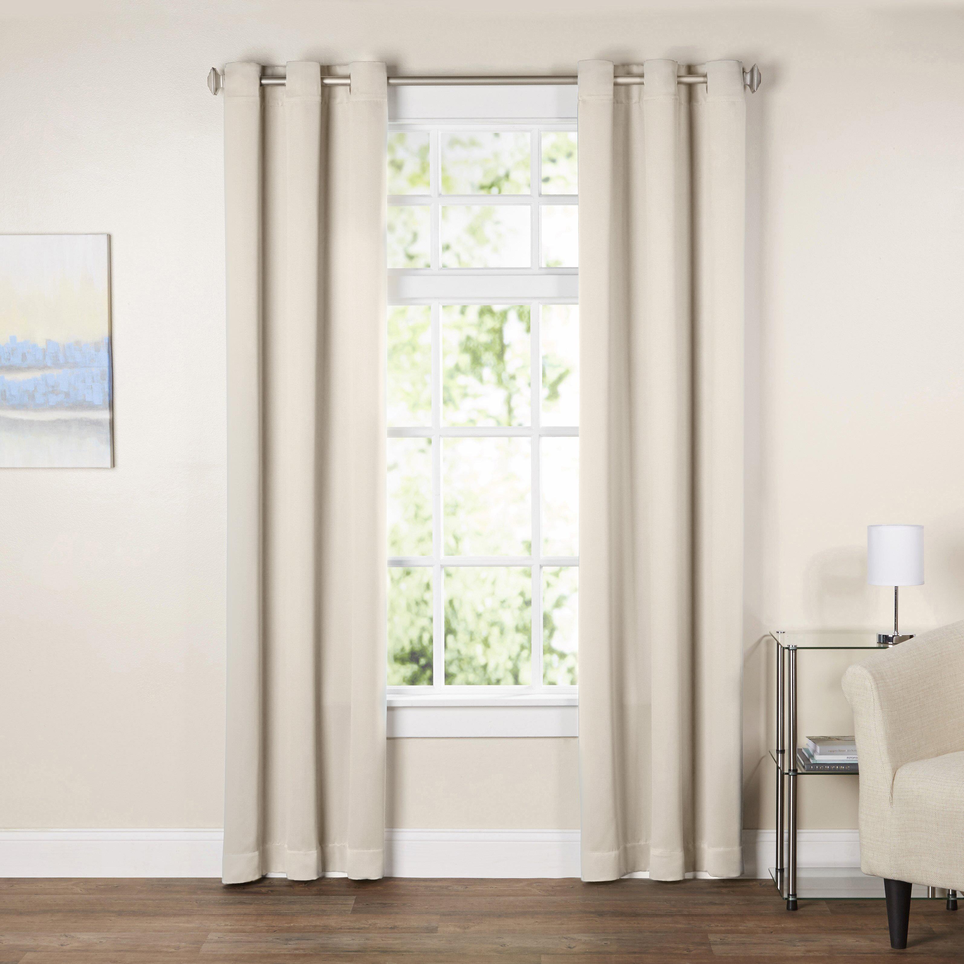 Wayfair Basics Solid Blackout Grommet Single Curtain Panel Reviews
